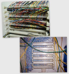 110 style blocks allow a much higher density of terminations in a given space than older style termination blocks