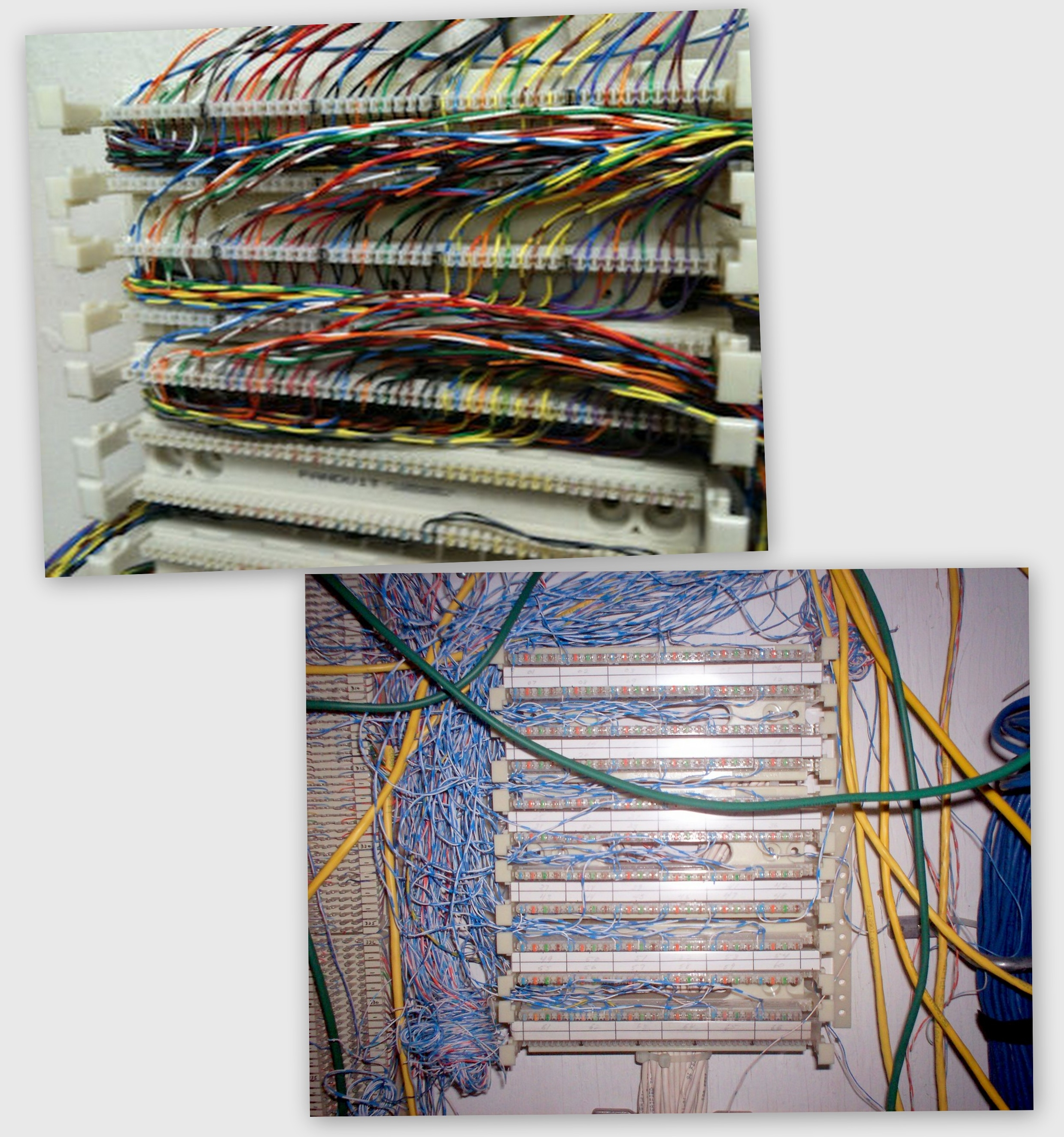 110 style blocks allow a much higher density of terminations in a given  space than older